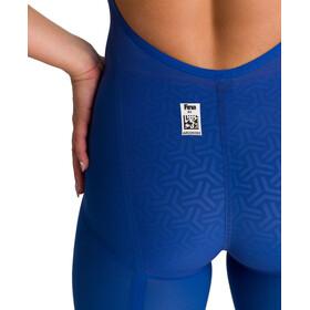 arena Powerskin Carbon Glide Full Body Short Leg Open Back Swimsuit Women ocean blue